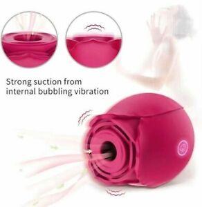 Rose Vibrator Electric Sucking Nipple Sucker Breast Enlarger Massager Pump Women