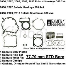 6 Namura Top End Kit Polaris 300 HAWKEYE 2X4 06-11 SPORTSMAN 4X4 08-10 79.20mm