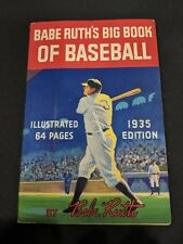 Babe Ruth Vintage Big Book Of Baseball ULTRA HIGH END Antique Original 1935