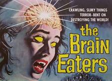 """THE BRAIN EATERS VINTAGE MOVIE POSTER- *FRAMED* CANVAS ART 24x16"""""""