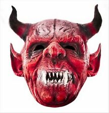 Scary Devil Halloween Fun CARD  Single Party Face Mask