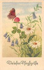 BG3823 flower butterfly   pfingsten Pentecost germany   greetings