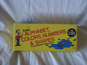 1988 Frank Schaffer's Easy Alphabet, Colors, Numbers & Shapes Flash Cards