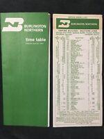 Vintage 4/26 1970 Burlington Northern Railroad Railway Time Table + Empire Build