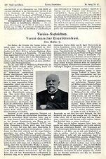 Otto Müller Nachruf d.Verein deutscher Eisenhüttenleute von 1916