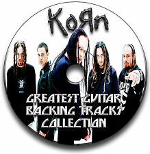 55 x KORN HEAVY NU METAL ROCK STYLE GUITAR MP3 BACKING TRACKS CD