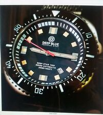 BRAND NEW DEEP BLUE-DEEP STAR 1000 SWISS AUTOMATIC MASH BLACK/WHITE STAINLESS.ST