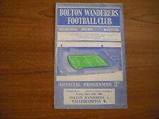 BOLTON WANDERERS v WOLVERHAMPTON WANDERERS - APRIL 24th 1964