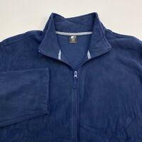 Starter Sweater Men's Size 2XL XXL Long Sleeve Navy Full Zip Fleece