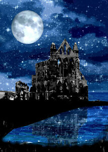 Whitby Abbey Night SKy  Limited Print By Sarah Jane Holt