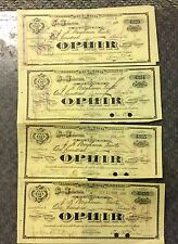 {BJSTAMPS}  Nevada  Ophir Silver Mining Co. 1908 Lot of 5 Certificates  Scarcer