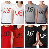 Valentine's gift Couple Matching Set Men's Tee Women's T Shirt Love His and Her
