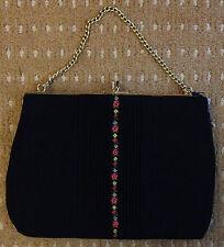 Vintage 1930s Style Black Evening Bag Handbag in VGC