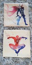 "Super Hero Avengers Cushion Cover Watercolour Home Decor 17"" Thor Spiderman"