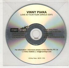 (GW657) Vinny Piana, Love Is Your Fear - DJ CD