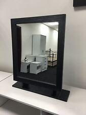 Marina Furniture | Ash Black Free Standing Large Dressing Table Desk Mirror