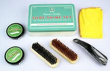 Schuhpflege-Set Schuhputz-Set 6-teilig, in praktischer Retro-Blechbox