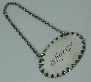 1931 Chester Silver SHERRY Decanter Label