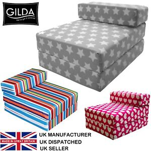 Chair Bed Fold Out Futon Single Guest Folding Mattress Sofa Bed Gilda Chairbed