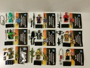 Kre-O GI Joe Collection 1 set of 9 Kreons Wave 1 Rock n Roll/ Quick Kick