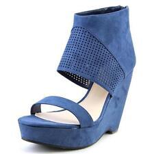 Zapatos de tacón de mujer plataformas de tacón alto (más que 7,5 cm) de color principal azul