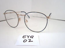 Vintage 1980s Sun/Eyeglasses Frame #Cindy Blue/Gold Eye-Q (Eyq-02)