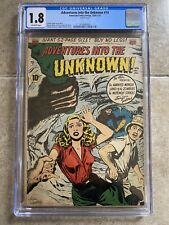 """Adventures Into the Unknown #14 CGC 1950 ACG """"Land of the Zombies!"""" Horror PCH"""