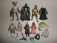 Modern Kenner Star Wars Action Figure and Accessory Weapon Lot J with Boba Fett
