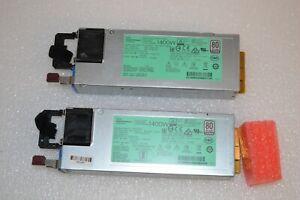 2 X HP Flex Slot HS PSU 1400W 'Platinum Plus 733428-101 754383-001 720620-B21
