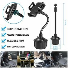 Universal 360° Adjustable Car Mount Gooseneck Cup Holder Cradle For Cell Phone