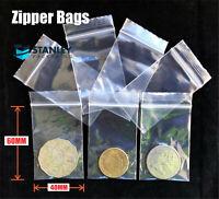 100x Small 38x50mm Ziplock Zip Lock Resealable Plastic Bags Reclosable 50UM