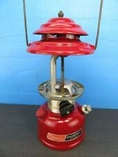 New listing Coleman Burgundy 286 Single Mantle Lantern Nice Shape Runs