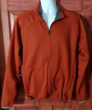 Salomon Jacket Mens Men's XL Burnt Orange Polyester Soft Shell Fleece lined