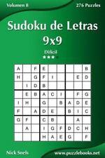 Sudoku de Letras 9x9 - Difícil - Volumen 8 - 276 Puzzles (Volume 8) (Spanish Edi
