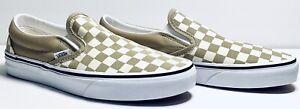 NEW VANS Checkerboard Cornstalk True White Classic Slip On Men's Size 12