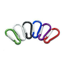 "120 Pcs Carabiner 2""/ 5cm Aluminum Alloy locking Clip Camping Snap Hook Keychain"