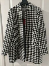 Pure Women's Houndstooth White/Grey/Black Coat - Size UK 18 (New with tags)