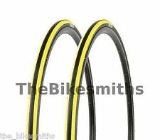 2 PAK Kenda Kadence YELLOW & BLACK Road Bike Tires 700 x 23C 1 Pair Bicycle 260g