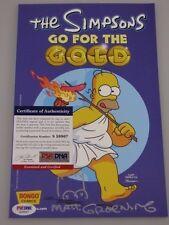 MATT GROENING Hand Signed + SKETCH 'Go For Gold' Comic Book + PSA DNA COA