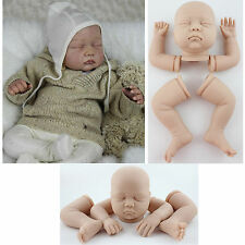Unpainted Reborn Doll Kits Soft Vinyl Head 3/4 Limbs for Sleeping Baby Doll DIY