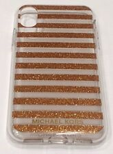 Michael Kors Phone Case for iPhone X (10) - Gold Stripe