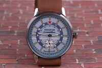 Pobeda Mens watch komandirskie Submarine USSR Wrist Watches /New Leather Strap