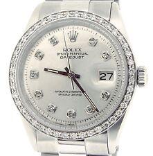 Rolex Datejust Acero Inoxidable con / President Banda Plata Diamante Dial 1.0ct
