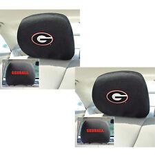 New 2pc NCAA Georgia Bulldogs Automotive Gear Car Truck Headrest Covers Set