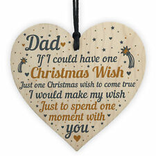 Dad Christmas Memorial Tree Decoration Hanging Wooden Bauble Gift For Father