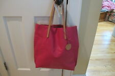 """Jack Gomme Atelier  """"Calm"""" Pink Calf  Leather Tote Bag. Made in France.NWT."""