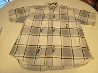 Mens Rugger by Gant Imperial Poplin L cotton short sleeve shirt **Spots* GUC@