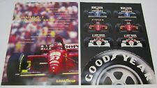 Lot 2 Vtg NOS 1990s Goodyear Tire Posters Formula 1 Racing Race Car Advertising