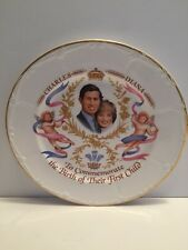 PRINCE CHARLES & PRINCESS DIANA Commemorative Plate of Prince William Birth 1982