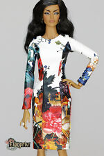 elenpriv white floral leather dress Fashion Royalty doll FR:16 ITBE Poppy 16""